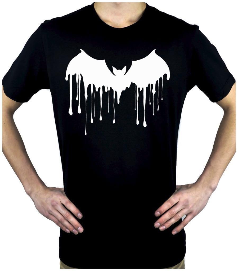 Vampire Bat Drip Men's T-shirt Melting Dracula Gothic Punk Alternative  Clothing New Short Sleeve Round Collar Mens T Shirts Fashion 201