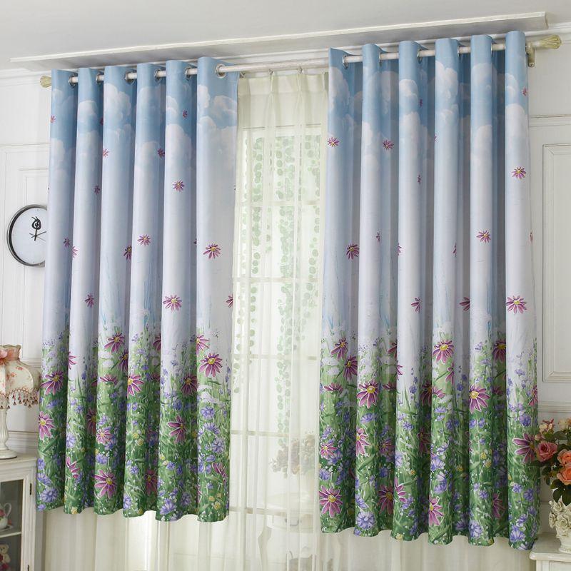 2019 Curtains Drapery French Bay Window Printed Curtain Window