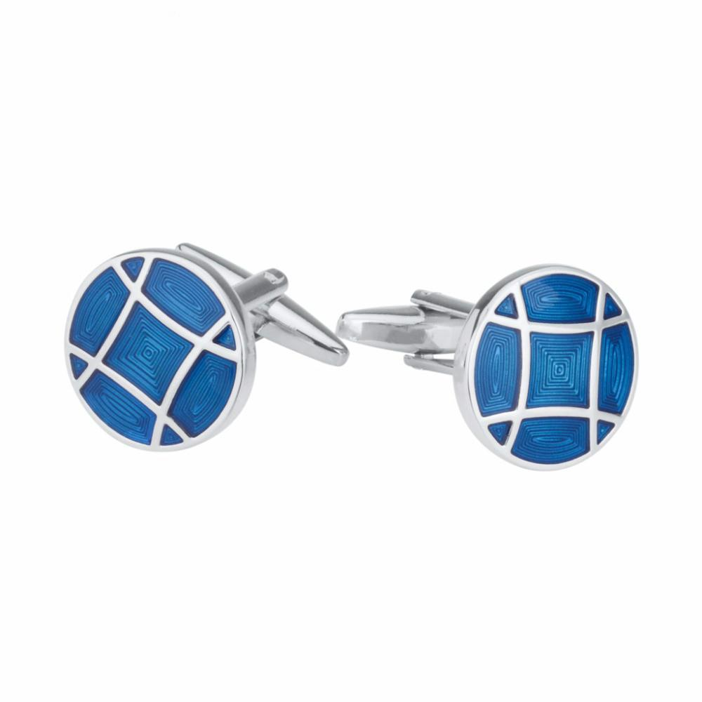 SAVOYSHI Blue Enamel Bottons for Mens French Shirt Brand Cuff Nails Round Cuff Links Wedding Gift Men Accessories Wholesale
