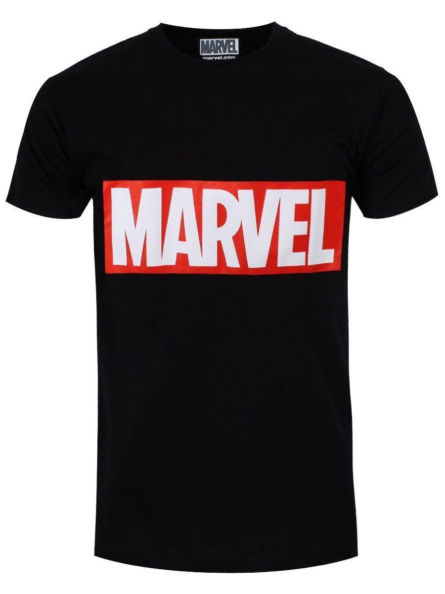 42a1bf1924 Marvel Comics Box Logo Men S Black T Shirt High Quality Custom Top Tee 100%  Cotton T Shirts Brand Clothing Tops Tees Design Your T Shirt Personalized T  ...