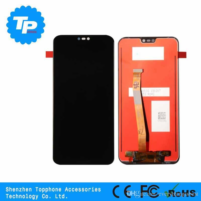 100% original For Huawei P20 Lite LCD Display Touch Screen Digitizer  Assembly Replacement for Huawei Nova 3E LCD Screen 5 84 inch With Frame