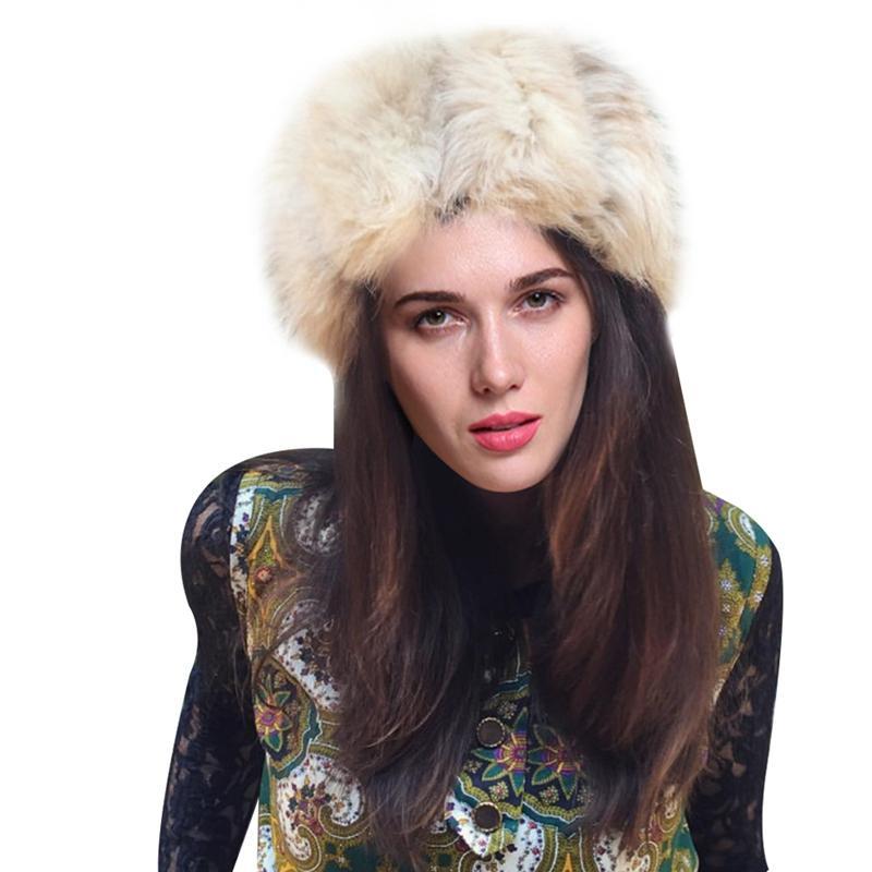 a012bc267fd Russian Women Lady Faux Fox Fur Earflap Snow Hat Cossack Style Beanie Warm  Cap Winter 2018 UK 2019 From Duweiha