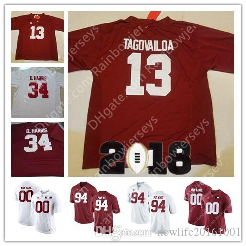 Custom Alabama Crimson Tide College Football Jerseys 13 Tua ... a3a271924
