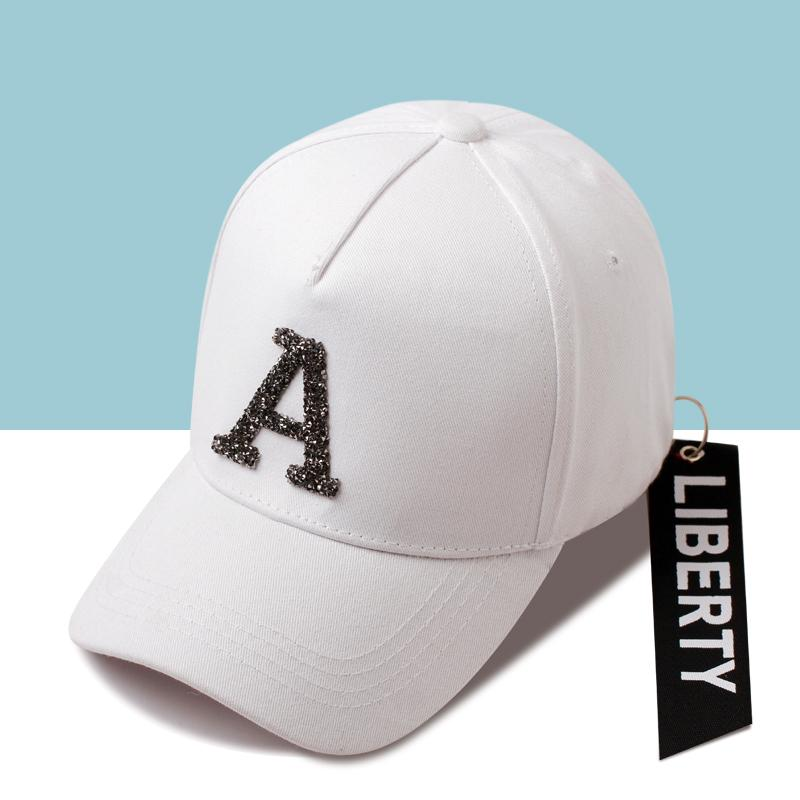 best cheap dfc33 37b31 2019 Rhinestone Letter Baseball Cap Ribbon Hip Hop Snapback Hat Men And  Women Summer Outdoor Sport Adjustable Golf Hat Bone Couple From Ekuanfeng,  ...