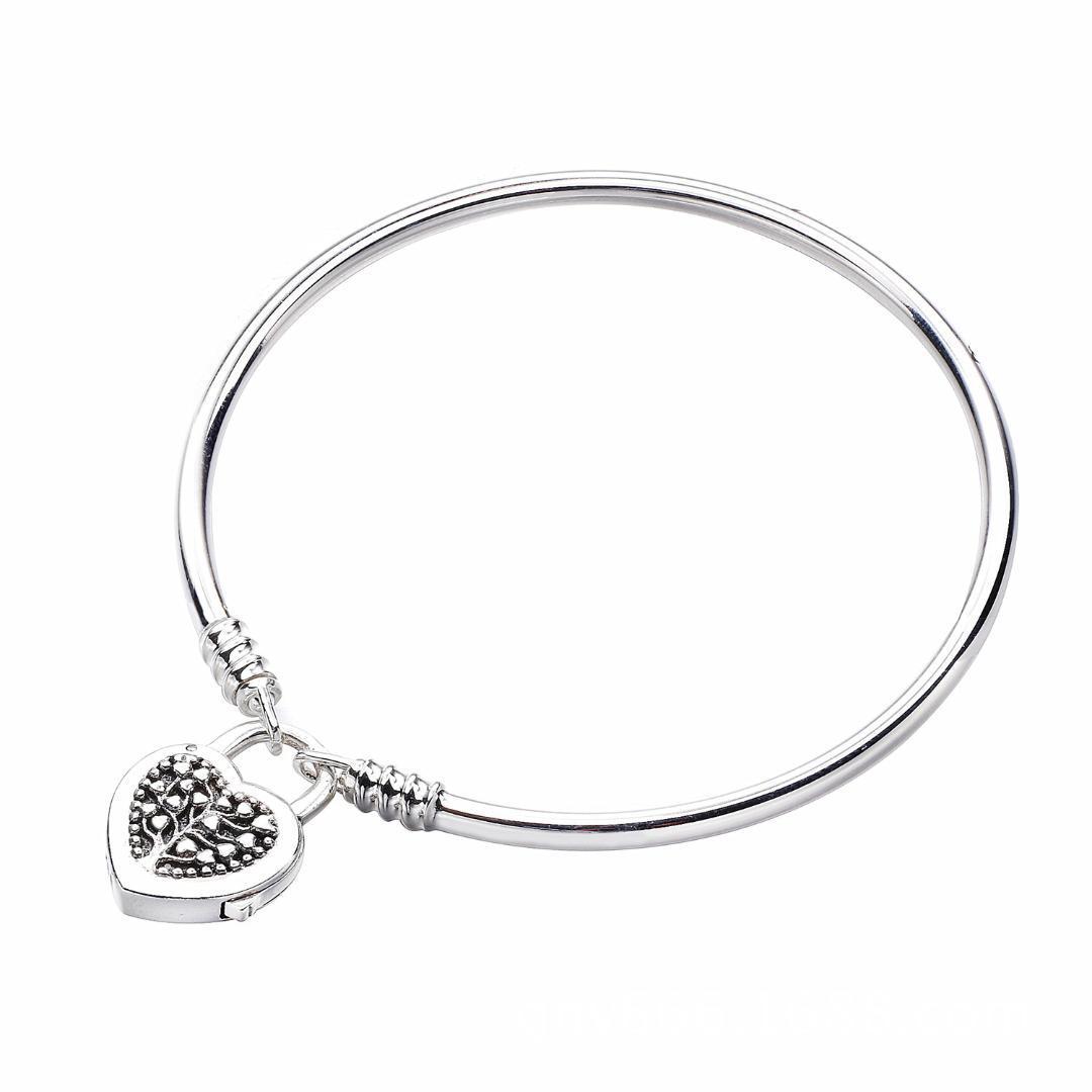 taglia 40 4e461 151ae 2018 Mother Day 925 Bracciale in argento sterling edizione limitata  Flourishing cuore lucchetto braccialetto fascino gioielli fai da te donne