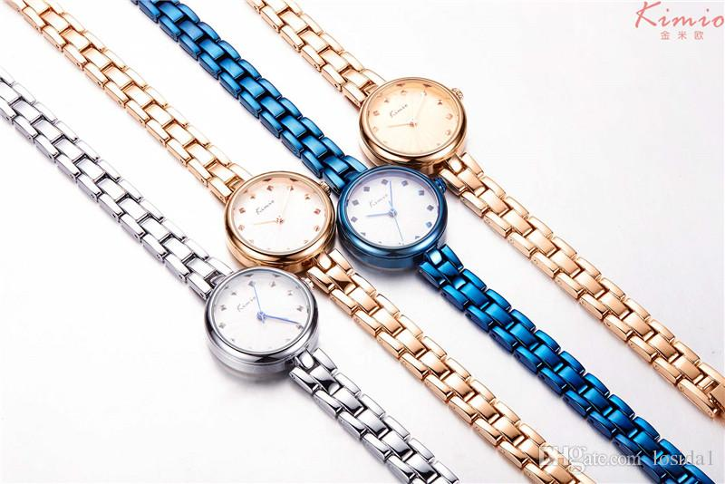2018 Fashion New Trendy Novel Women Watches Bracelet Wristwatch With Thin Stainless Steel Strap Jewelries Watch Clock for Lady Dress Saat
