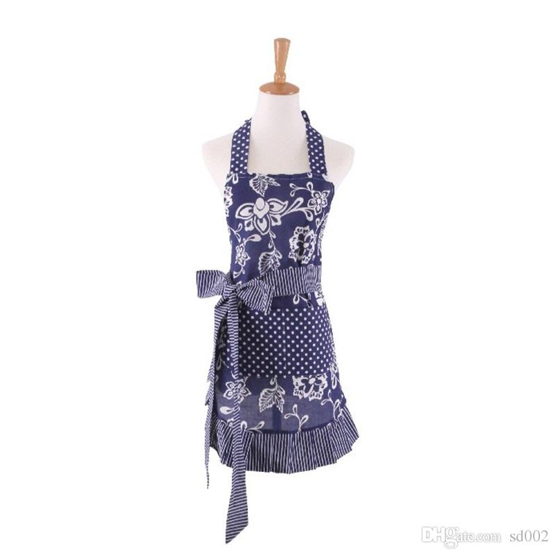 New Printed Apron Fashion Parent Child Pinafore With Pockets Multi Color Household Kitchen Accessories 26hd C R