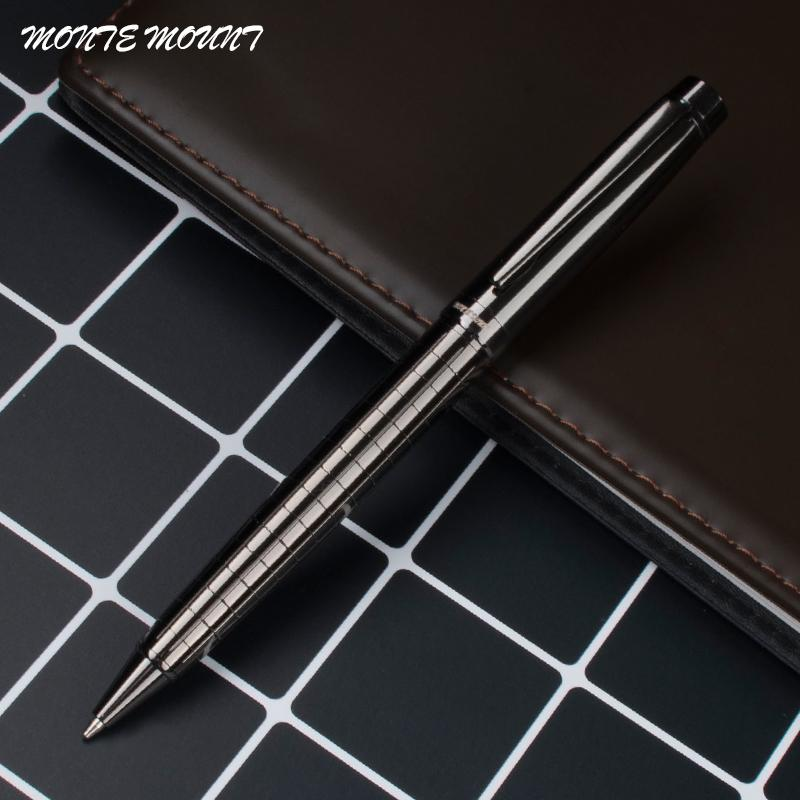 Bon Monte Mount Metal Gray Pen Luxury Stationery School Office Supplies Brand  Writing Ballpoint Pen Best Gift Colored Ballpoint Pens Gel Ink Pen From  Donaold, ...