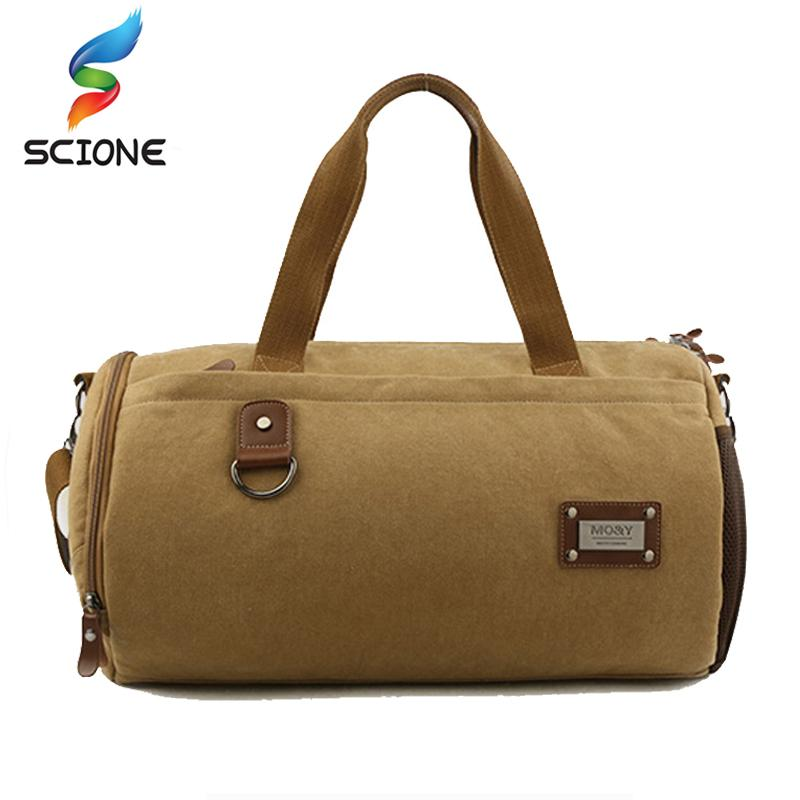 de7a3430c3e7 Outdoor Washed Canvas Sport Gym Bags Multi Function Handbag Single Shoulder Bag  Men Travel Independent Shoes Duffle Bags UK 2019 From Hcaihong