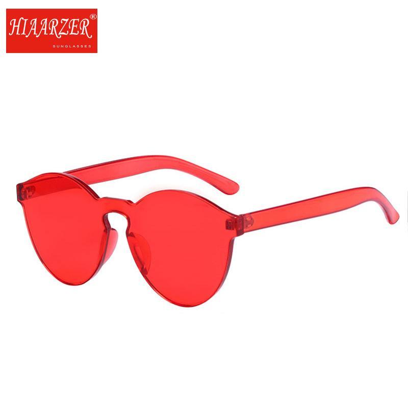 bfa3168515f5 Stylish Transparent Cat Eye Frameless Sunglasses Women Men Luxury ...