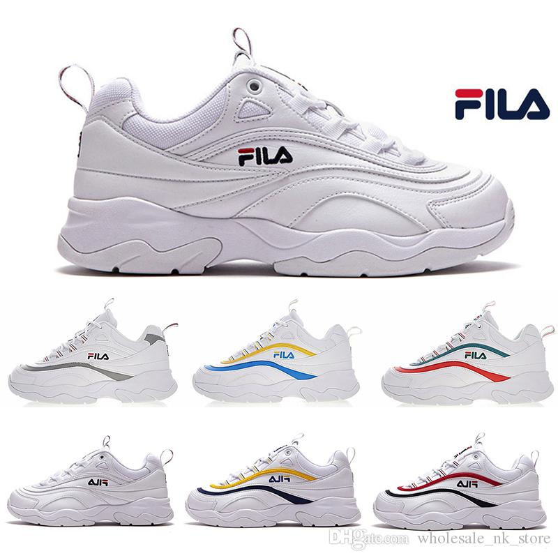 Acheter 2019 Nouveauté Dossier Athentic X Chaussures De Course De Marque  FILSA ® Ray Dad Pour Hommes Chaussures De Course Pour Hommes Baskets Femme  FILE