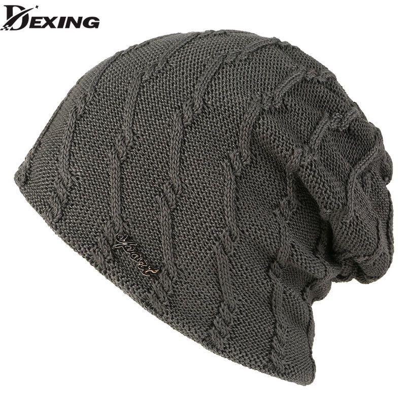 1c2da192f02 2019 Winter Beanie Knitted Hat Women Winter Hats For Men Fashion Skullies  Beanies Bonnet Solid Warm Mask Soft Knit Caps Hats From Kuaigoubian