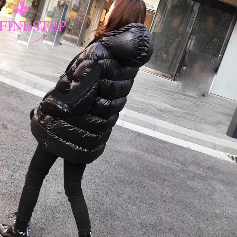 official photos 66055 23572 Piumini lunghi da donna alla moda 2019 Caldi piumini da donna casual  inverno caldo Piumini antracite grigi Spedizione gratuita
