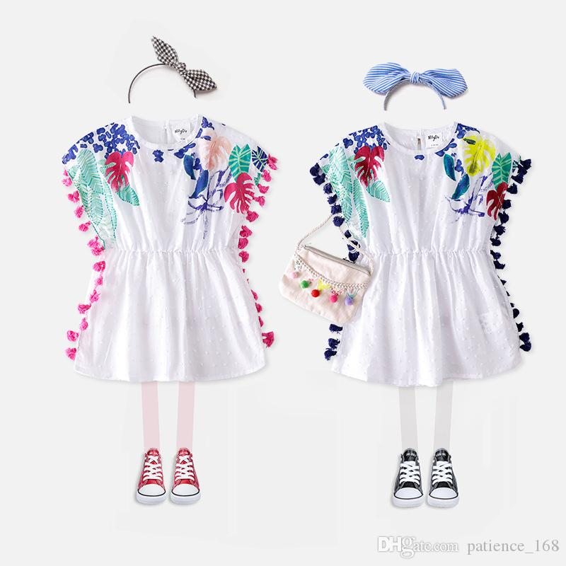 fff34d66305 New T Shirt 2018 INS Hot Styles New Summer Girl Kids Cute Pure Cotton  Embroidered Blouse Kids Elegant High Quality Tassel T Shirt Girl Tops 2018  Cotton Tops ...