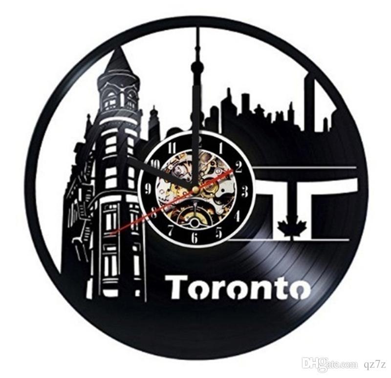 Toronto Canada Vinyl Wall Clock Modern Home Decor Crafts Creative