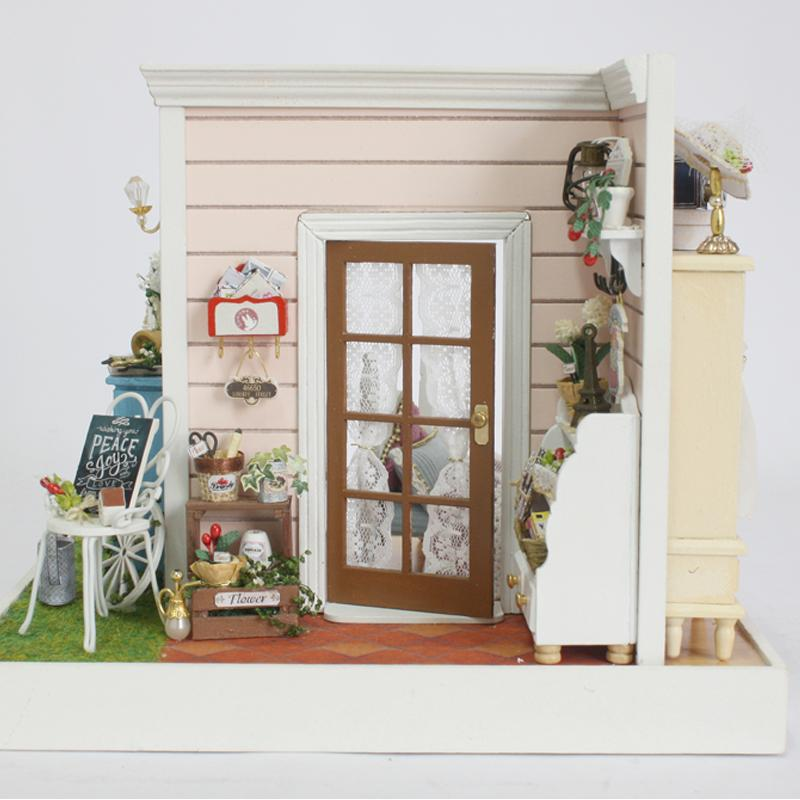 Cute Room Diy Doll Houses 3d Wooden Dollhouse Handmade Toys With Furnitures  Creative Gift For Children Happy Time Z001 Small Doll House Miniature  Dollhouse ...