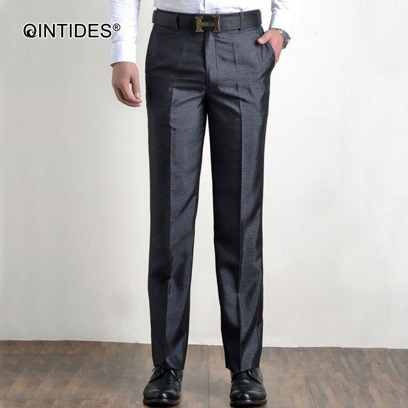 3e50ce99 QINTIDES thin men's trousers Business trousers Straight anti-wrinkle pants  easy-care suit pants