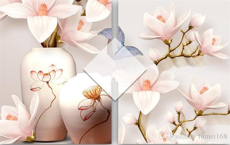 مخصص HD 3D صور خلفيات زهرة الجداريات الزهور مدخل الرواق 3D ورق الجدران ورق الحائط ديكور المنزل مطبخ مع غرفة المعيشة