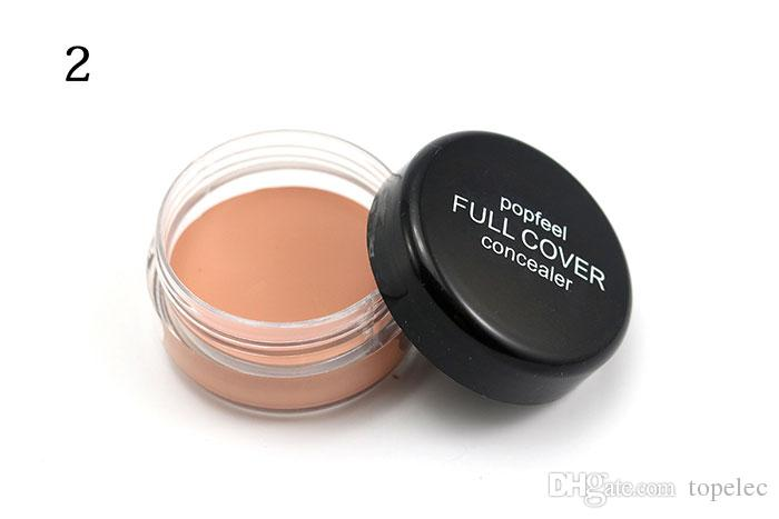 Popfeel 5 Colors Portable Round Full Cover Concealer Natural Makeup Concealers Facial Face BB Cream Foundation Contour Cosmetic Tools