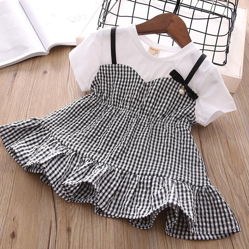 e9f390883 2019 Korean Girl Dress Short Sleeve Summer 2018 New Pattern False ...