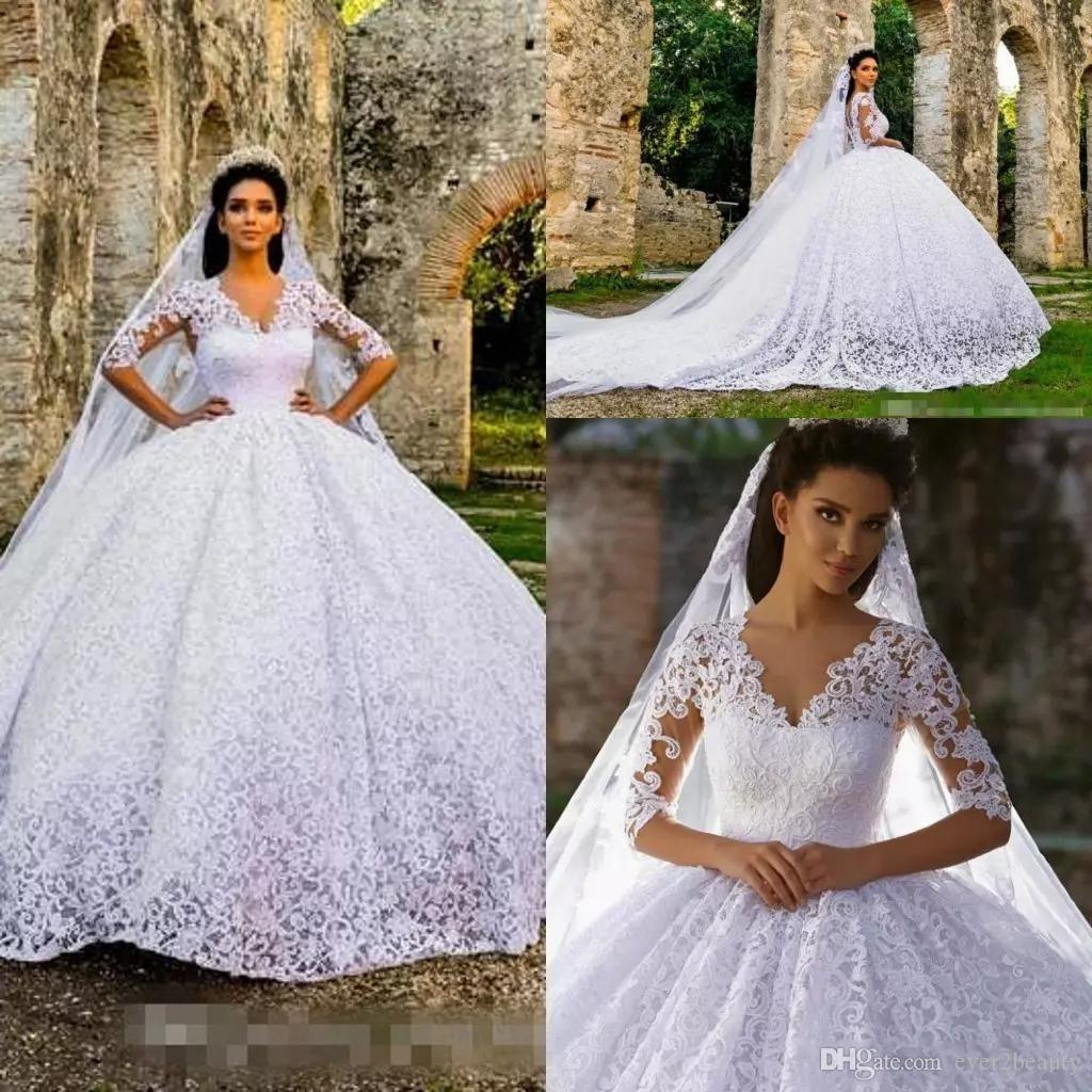 Discount 2018 Traditional Elegant Full Lace Wedding