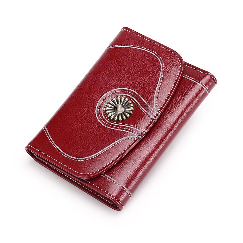 37f17d0cc932 Women Wallet Female Split Leather Short Wallets Coin Purse Small ...