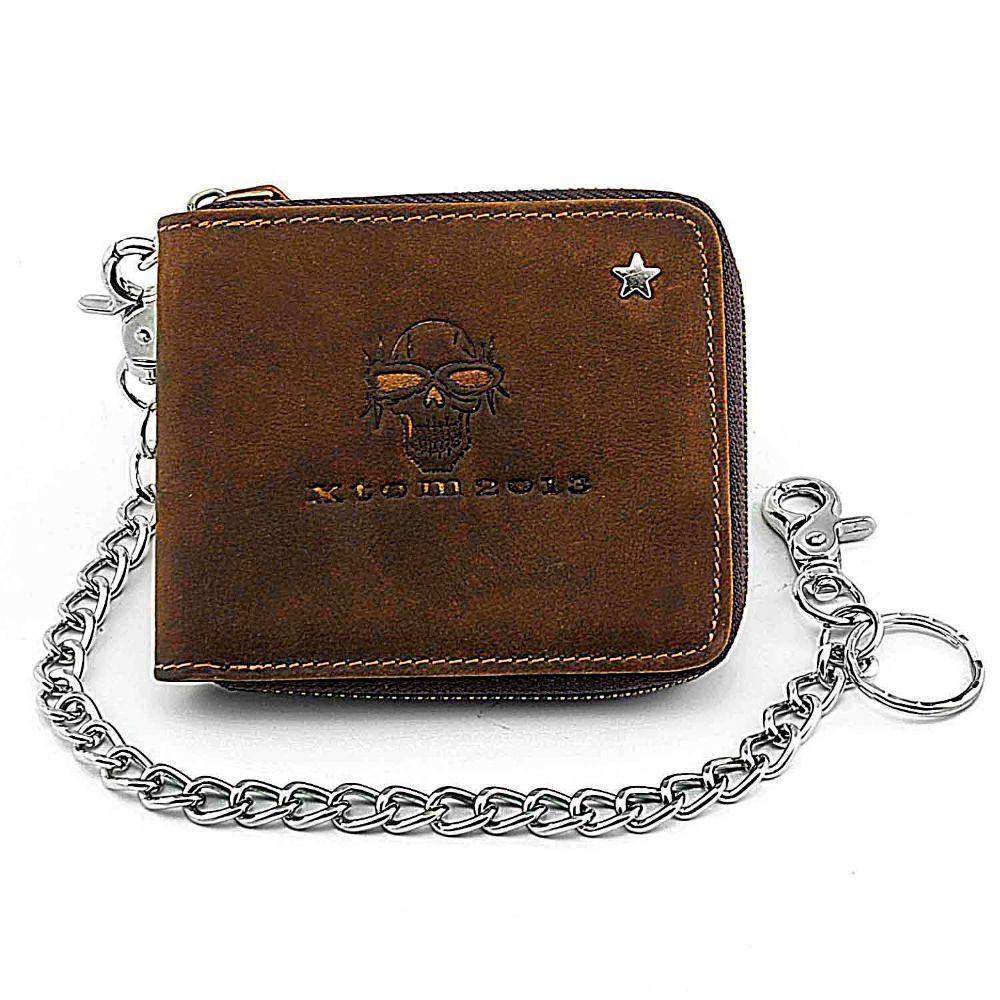 3 coul. KATANA Porte feuille porte monnaie avec fermoir en cuir réf 553011 noir