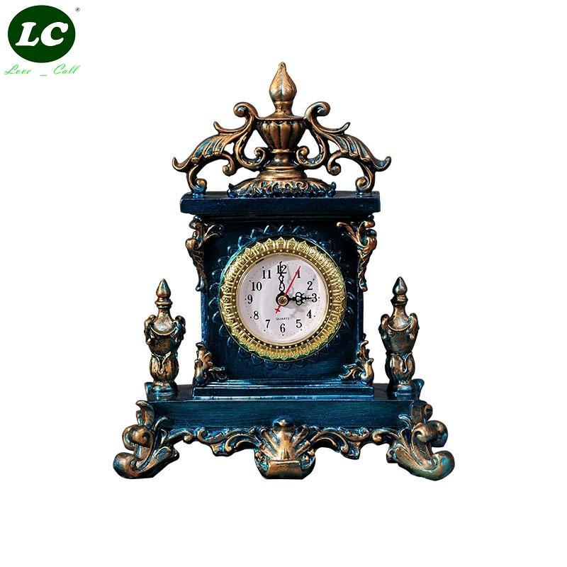 Classic Clock Desk Sitting Room Office Table Mute Pendulum Children Student Art Gift Originality Handcraft Clocks