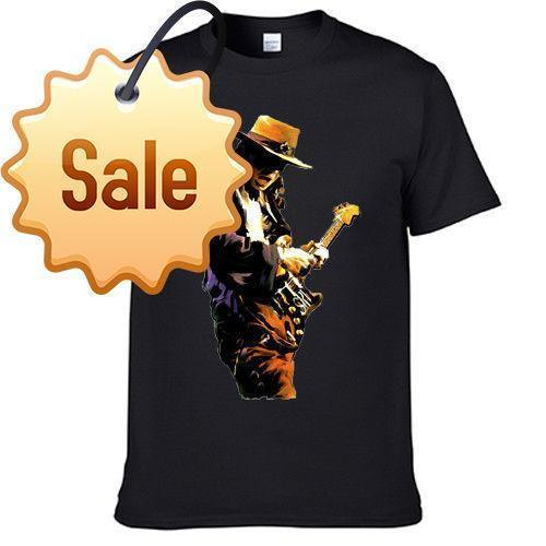 China Style Fashion Rock Stevie Ray Vaughan Stephen American Music Guitar Singer T Shirt Printed T Shirts Men's Streetwear