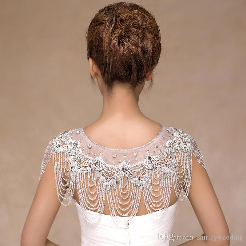 Wedding Bolero luxury Short Beading Appliques Crystals Wedding Wrap Jacket for Evening Prom Fashion Women Accessories