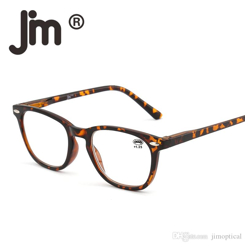 6ffb4597798f 2019 JM Retro Reading Glasses Spring Hinge Tortoiseshell Square Tortoise  Color Frame Readers Men Women Eyewear For Presbyopia From Jimoptical