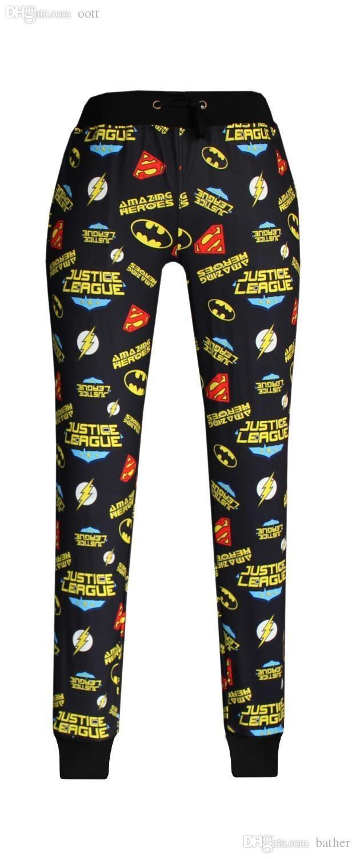 57a05a746f Compre Al Por Mayor 2015 Nueva Moda Hombres   Mujeres   Chica Deporte  Corredores Pantalones 3D Imprimir Supermen League De La Justicia Jogging  Pantalones De ...