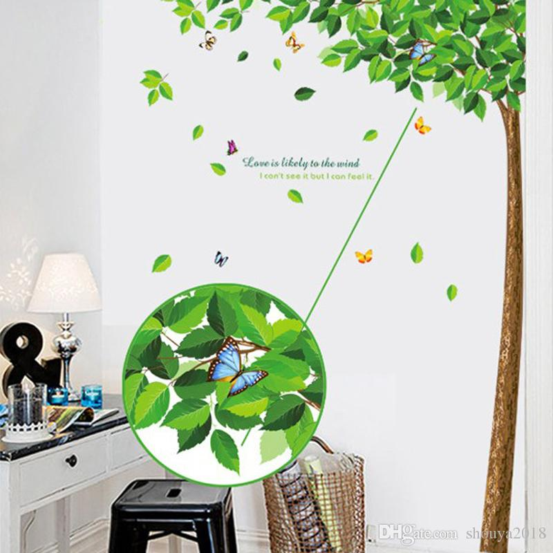 Home decor large wall sticker family tree removable bedroom wall decal nature wall picture for living room