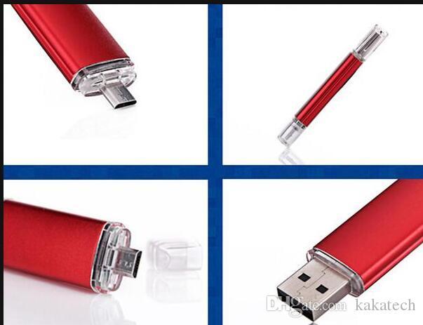 100% Real Full capacity 64GB 32GB 16GB 8GB 4GB 2GB OTG external storage USB 2.0 flash drive for Smart Cell phone