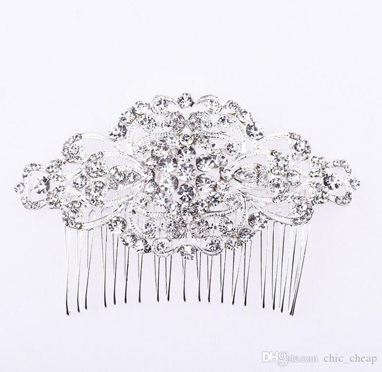 Bling Bling Crystal 2018 New Arrial Bridal Headpieces High Quality Vintage Combs Luxurious Bridal Accessories Wedding Decorations