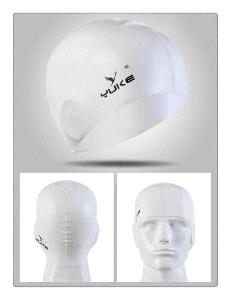Nueva gorra de natación de silicona a prueba de agua natación para adultos Unisex gel de silicona protección para los oídos gorro de baño hombres mujeres gorra de silicona sombrero para nadar