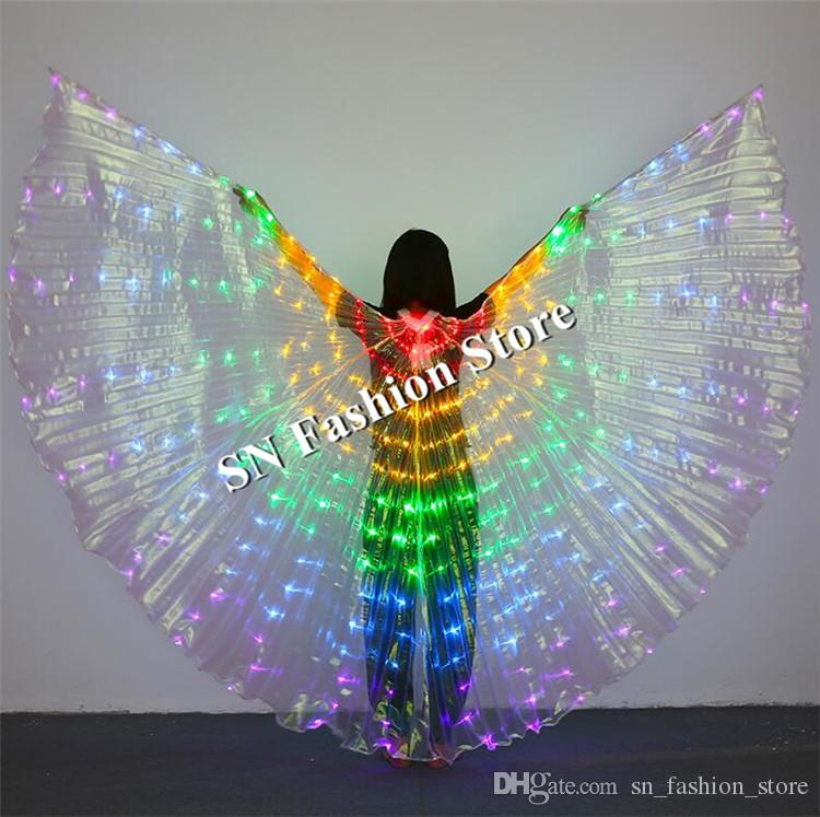BC35 Led costumes belly dance luminous led cloak wings colorful light stage dress singer bar performance cloth show dj club led catwalk bar