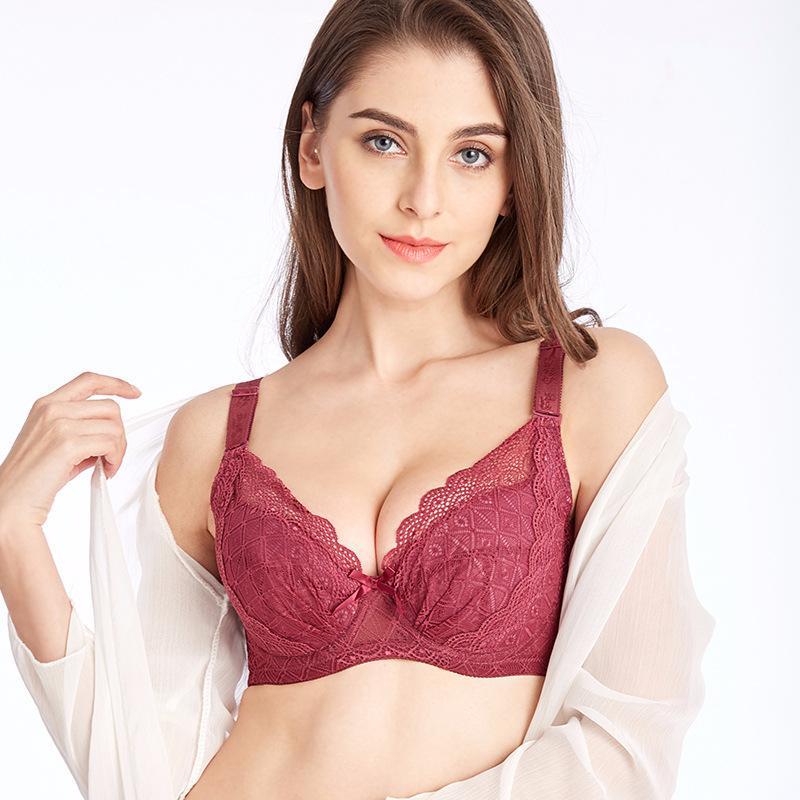 38f864812f 2019 Women Plus Size Bras Lace Bra Bralette Sexy Lingerie Underwear Women  Bl Top 75 80 85 90 95 100 105 110 B C D DD E F 384042444648 From Wangleme0