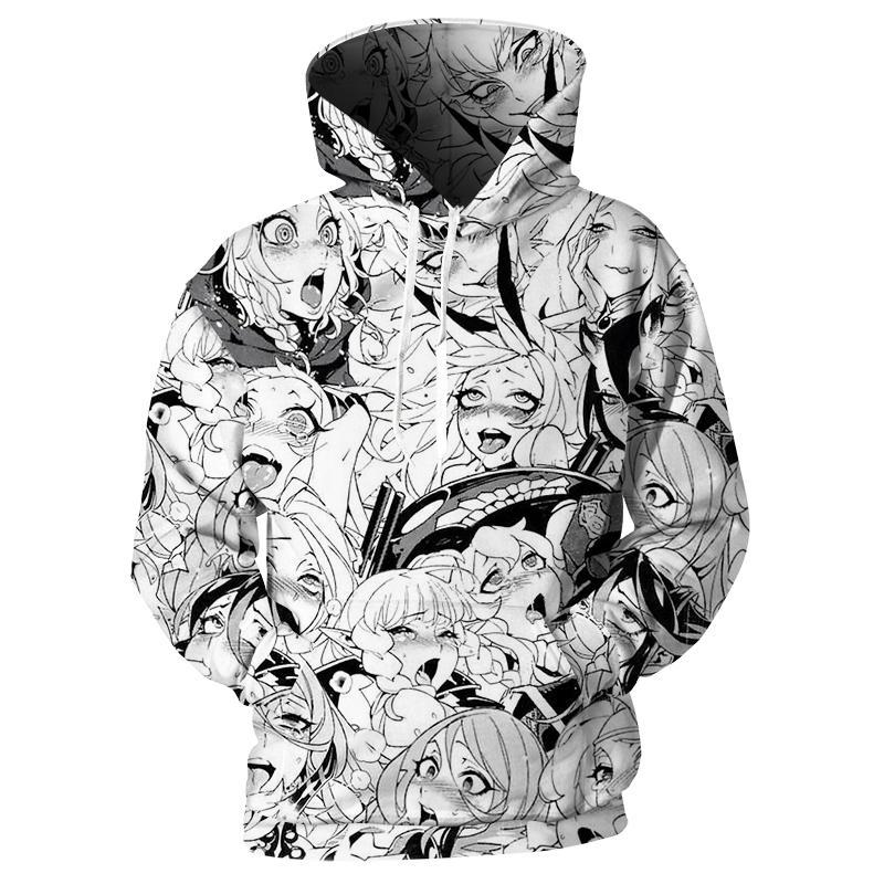 2019 cloudstyle ahegao 3d print anime hoodies men clothes 2018