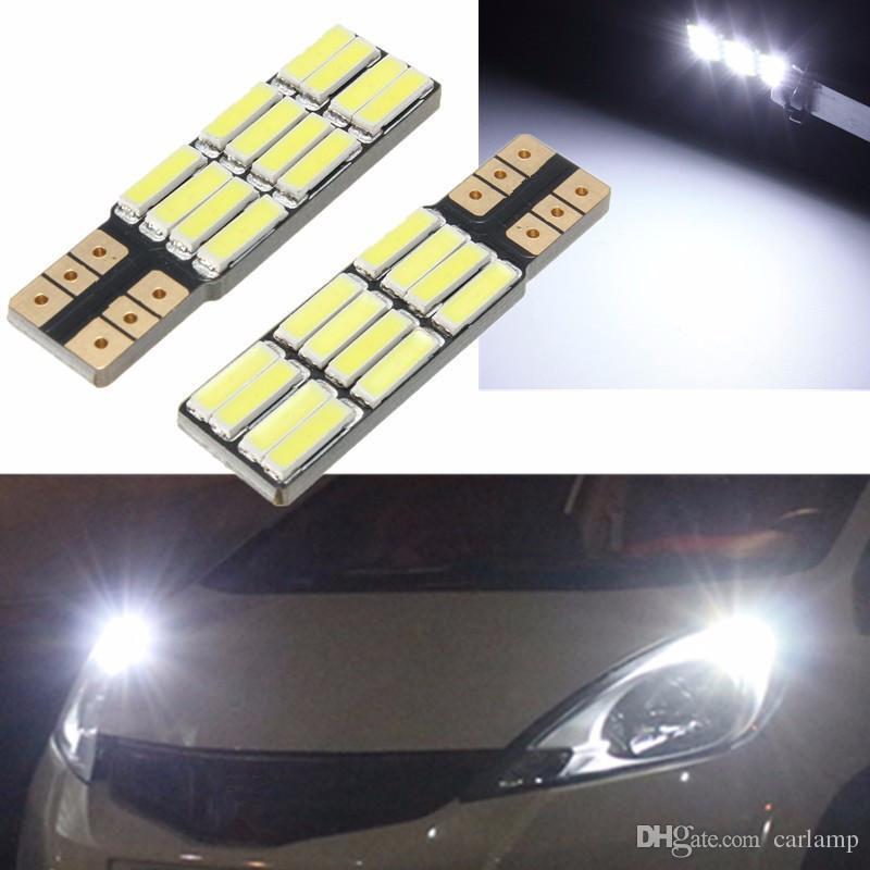 T10 7020 2825 168 194 12SMD 360LM White 6000K Auto Car LED Lights LED Light Bulb License Number Plate Lamp Bulb DC12V