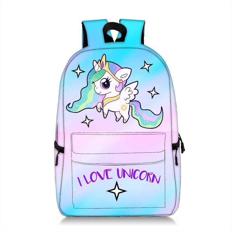 Popular Unicorn Backpack Kids Children School Bags For Girls Student