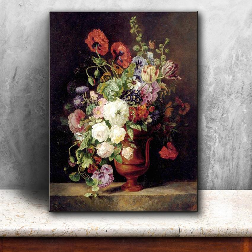 2019 Classical Retro Vase Flowers Landscape Canvas Printings Oil Painting Printed On Canvas Home Wall Art Decoration Pictures From Flaminglily ... & 2019 Classical Retro Vase Flowers Landscape Canvas Printings Oil ...