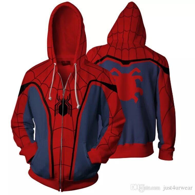 d933f50f5920f großhandel spider man 3d digital print lässige strickjacke mantel