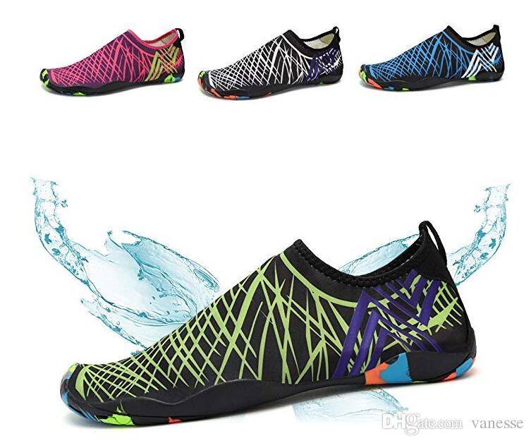 dopo bello design prezzo scontato Scarpe acqua moda uomo e donna Quick Dry Sneakers leggera a piedi nudi in  acqua per uomo Donna che fa surf per nuotare con lo yoga