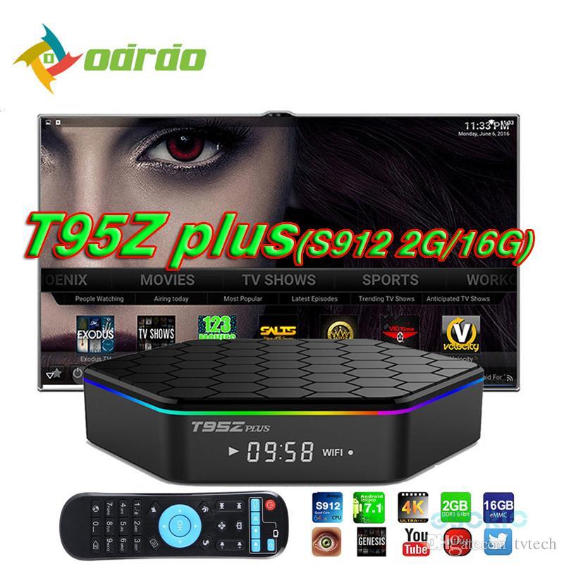 T95Z PLUS Android 7 1 TV BOX S912 Octa Core 2G 16G 2 4G 5G WiFi Bluetooth  Custom TV BOX Media Player set top box