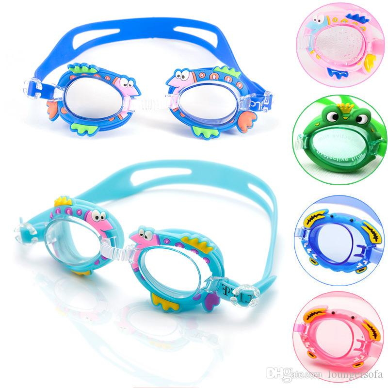 لطيف الكرتون الأطفال نظارات مكافحة الضباب للأطفال الفتيان الفتيات السباحة نظارات المياه الرياضة الطفل نظارات سيليكون مرآة حلقة 6bj y
