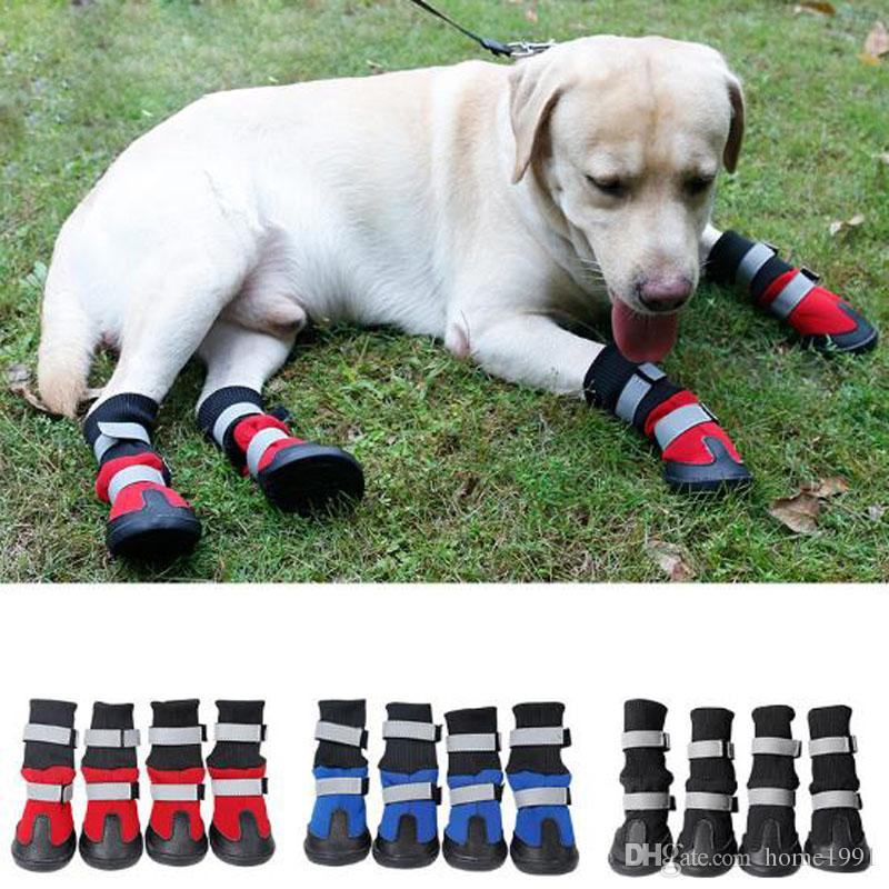 Large Dogs Shoes High Waist Portable Boots Cotton Waterproof Boots Non Slip Rubber  Sole Dog Shoes Wearable Snow Boots UK 2019 From Home1991 cc89b87c7