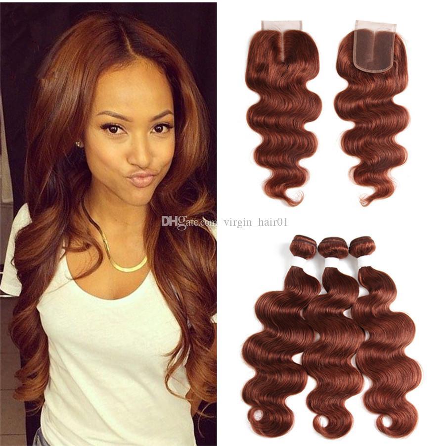 acheter cheveux auburn tisse péruvienne vierge extensions de cheveux