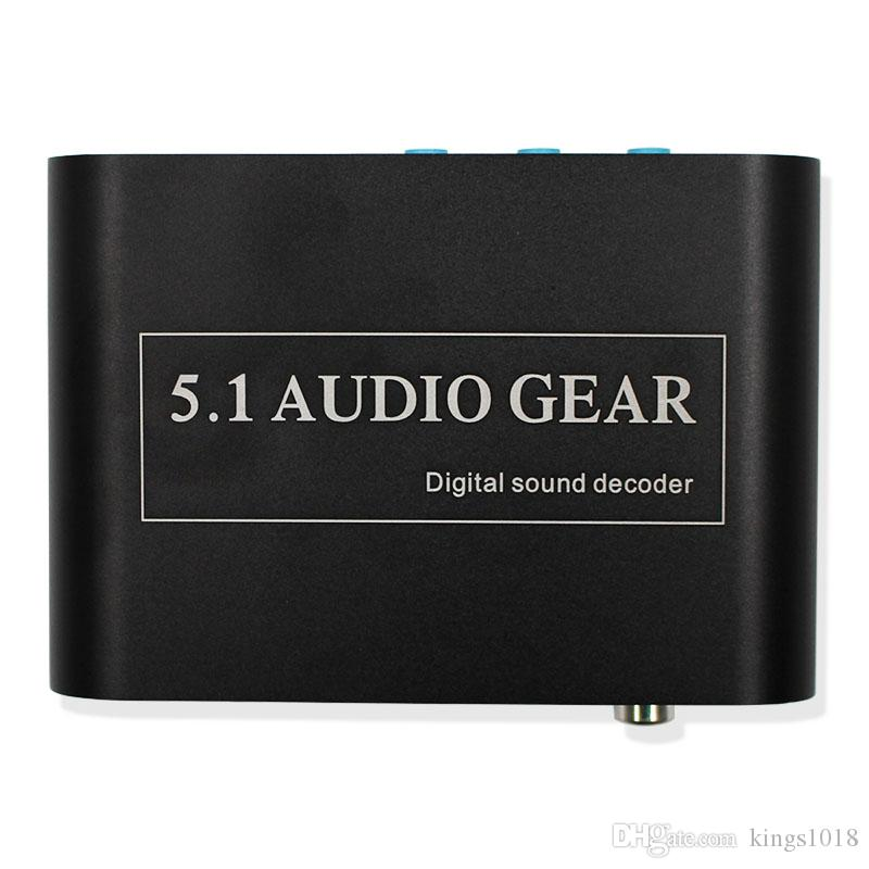 high quality 5 1 Audio Gear Digital Sound Decoder Converter Support Dolby  DTS Optical to 3RCA with USB Port for Charging for DVD XBOX360