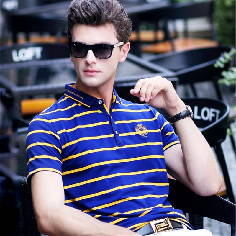 b4f8fc3c383b 2019 New 2018 Summer Men s Clothing Smart Casual Shirts Breathable Short  Sleeve Striped Camisa Shirt Men Shirt Tops From Fitzgerald10